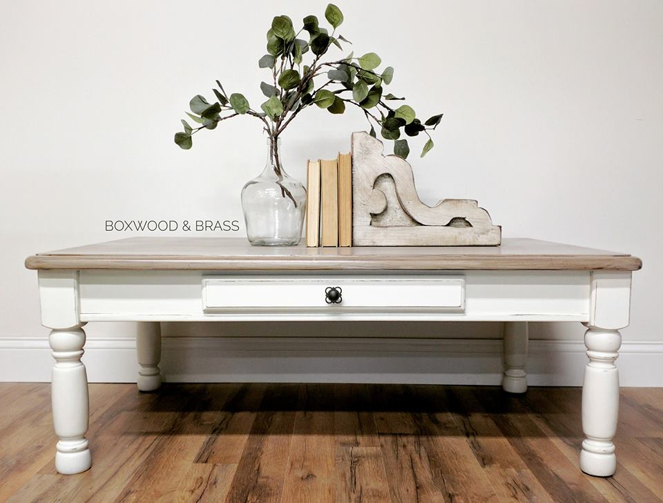 How To Paint Brown Coffe Table White