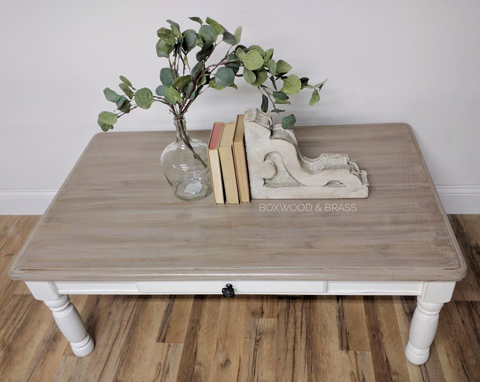 Dreamy Farmhouse Coffee Table In Antique White General Finishes