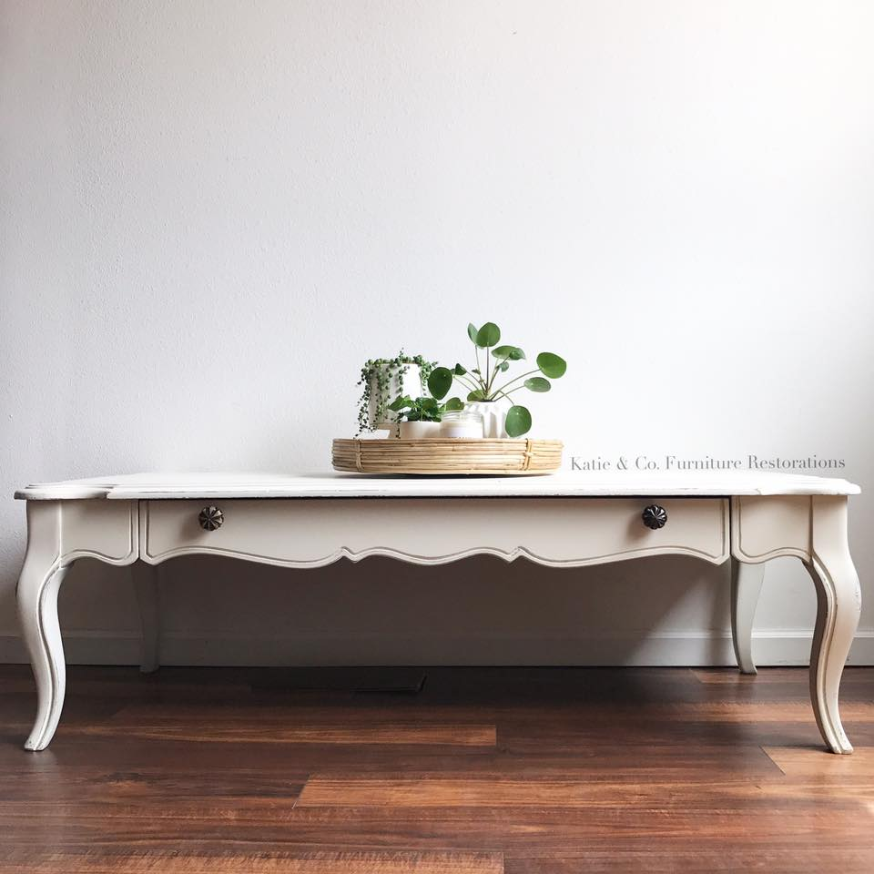Simple And Sweet Coffee Table In Antique White General