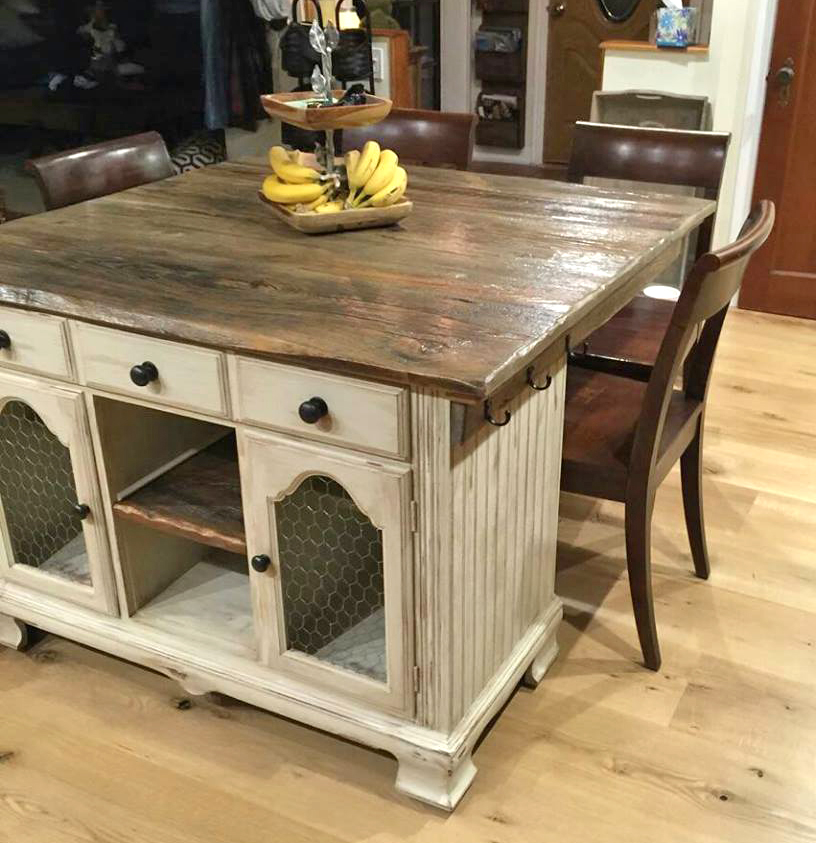Custom Rustic Kitchen Island General Finishes Design Center