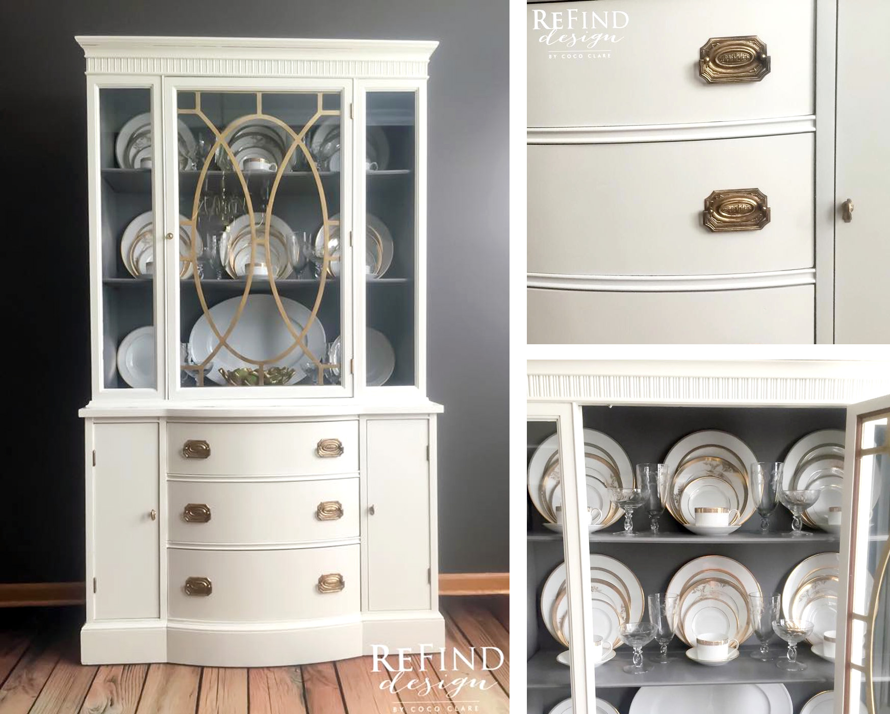 Antique White China Cabinet Upcycle General Finishes