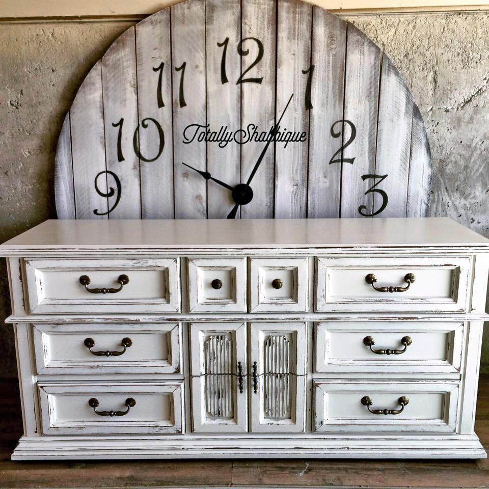 Antique White Distressed Dresser General Finishes Design