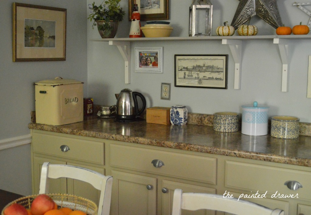 Kitchen transformation in millstone milk paint general for Finished kitchen cabinets