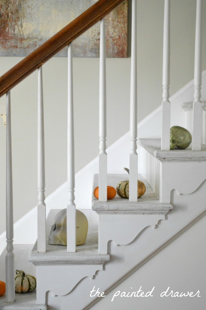 Stair Backs In Antique White Milk Paint General Finishes