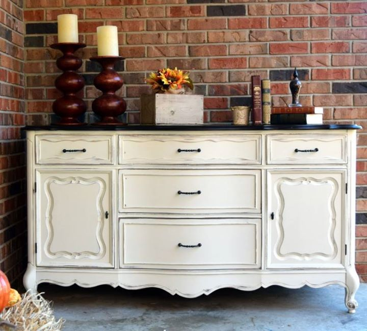 Buffet in Antique White Milk Paint | General Finishes ...