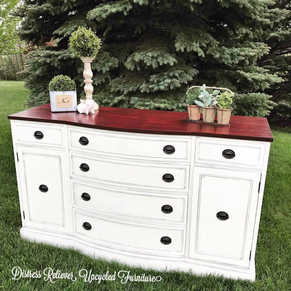 Antique White And Georgian Cherry Dresser General