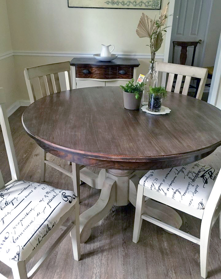 Millstone And Anitque Walnut Dining Set General Finishes Design Center