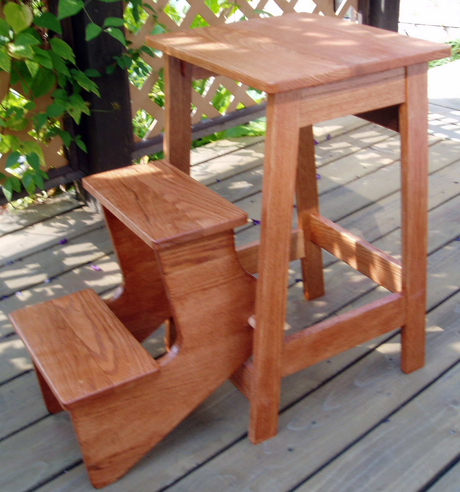 Pecan Fold Out Stool General Finishes Design Center