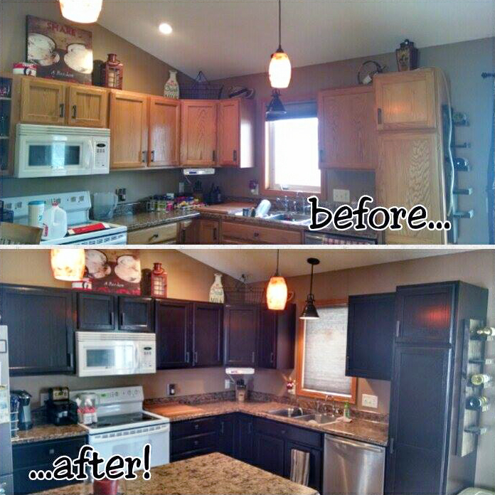 Brown Mahogany Gel Stained Kitchen Cabinets General Finishes Design Center
