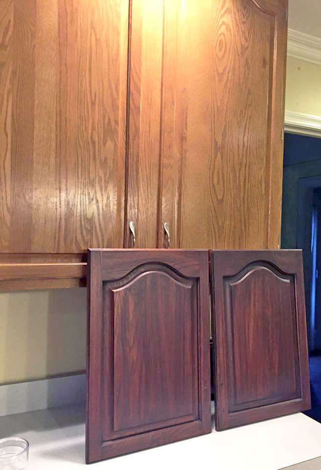 Brown Mahogany Cabinet Transformation General Finishes
