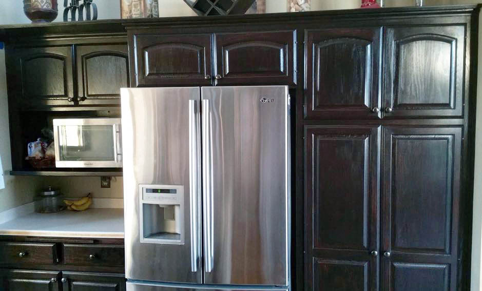 java cabinets kitchen java cabinet makeover general finishes design center 18011