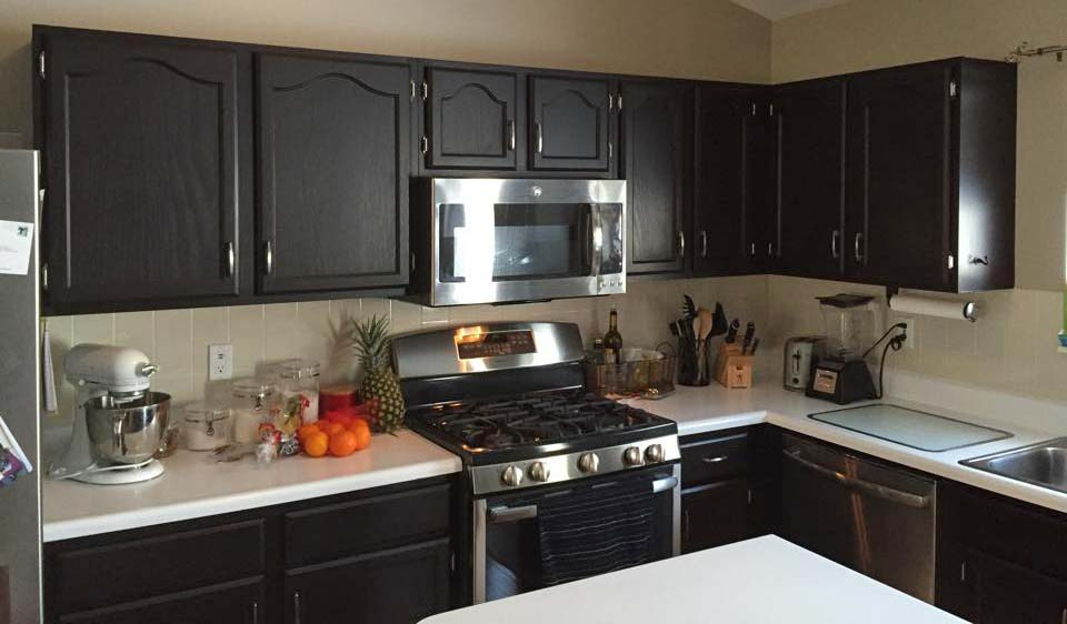 Refinishing Kitchen Cabinets Brown