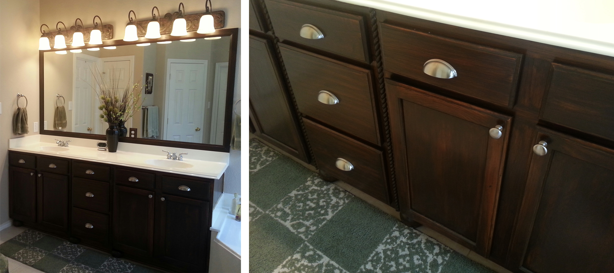 Bathroom Cabinet In Antique Walnut Gel Stain | General Finishes Design  Center