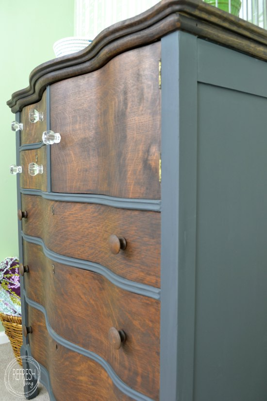 Slate Gray And Java Dresser General Finishes Design Center