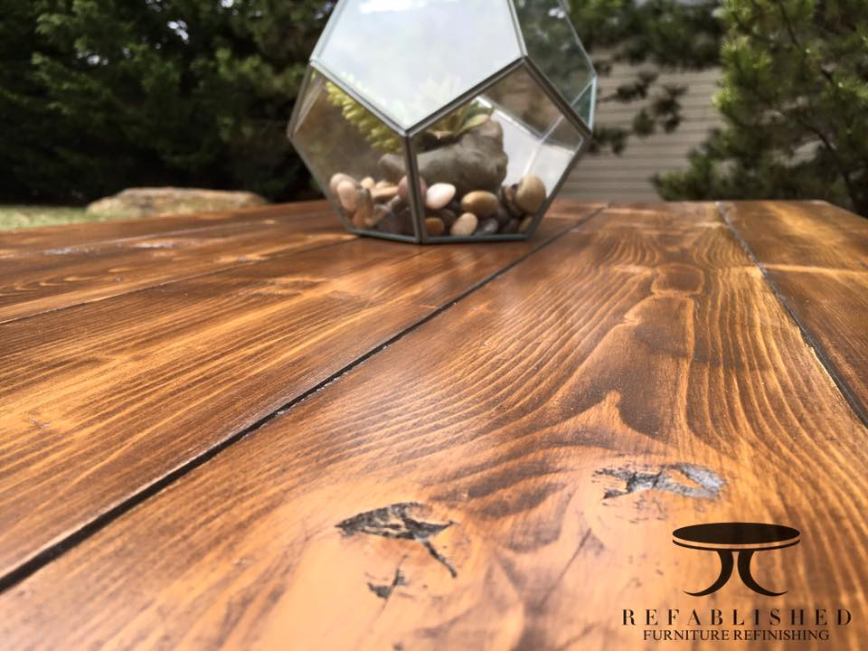 Custom Built Table In Antique Walnut Gel Stain General