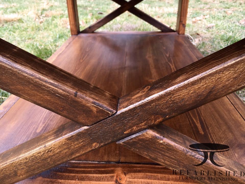 Custom Built Table In Antique Walnut Gel Stain General