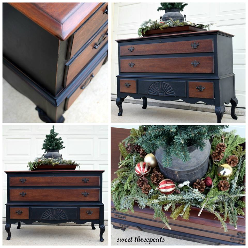 Brown Mahogany And Lamp Black Dresser General Finishes