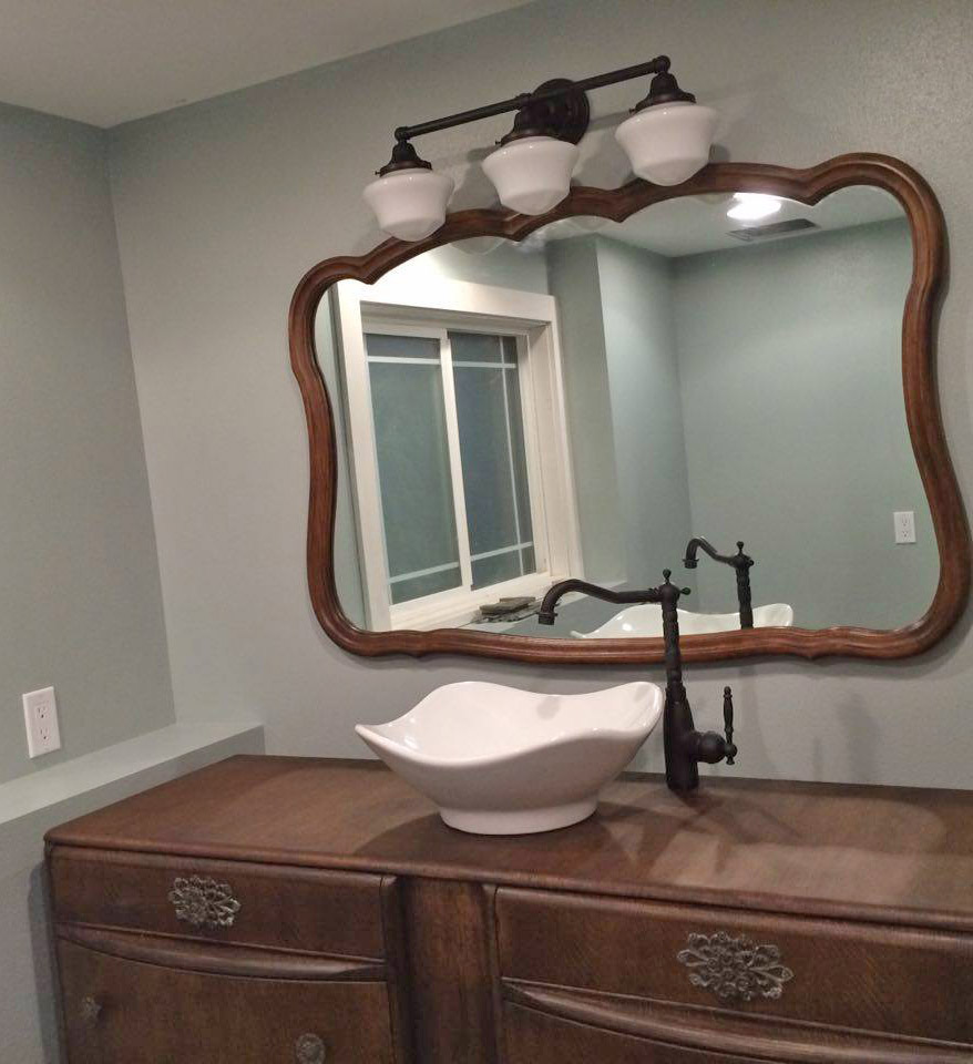 Bathroom Vanity Makeover In Java Gel Stain | General Finishes Design Center
