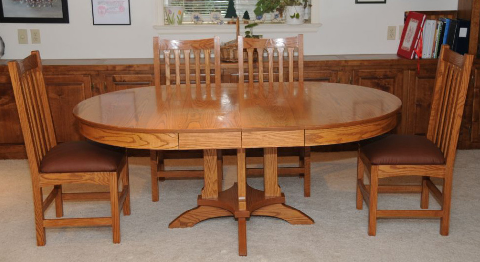 Dining Room Table And Chair Set In Pecan Liquid Oil Based Stain Arm R Seal