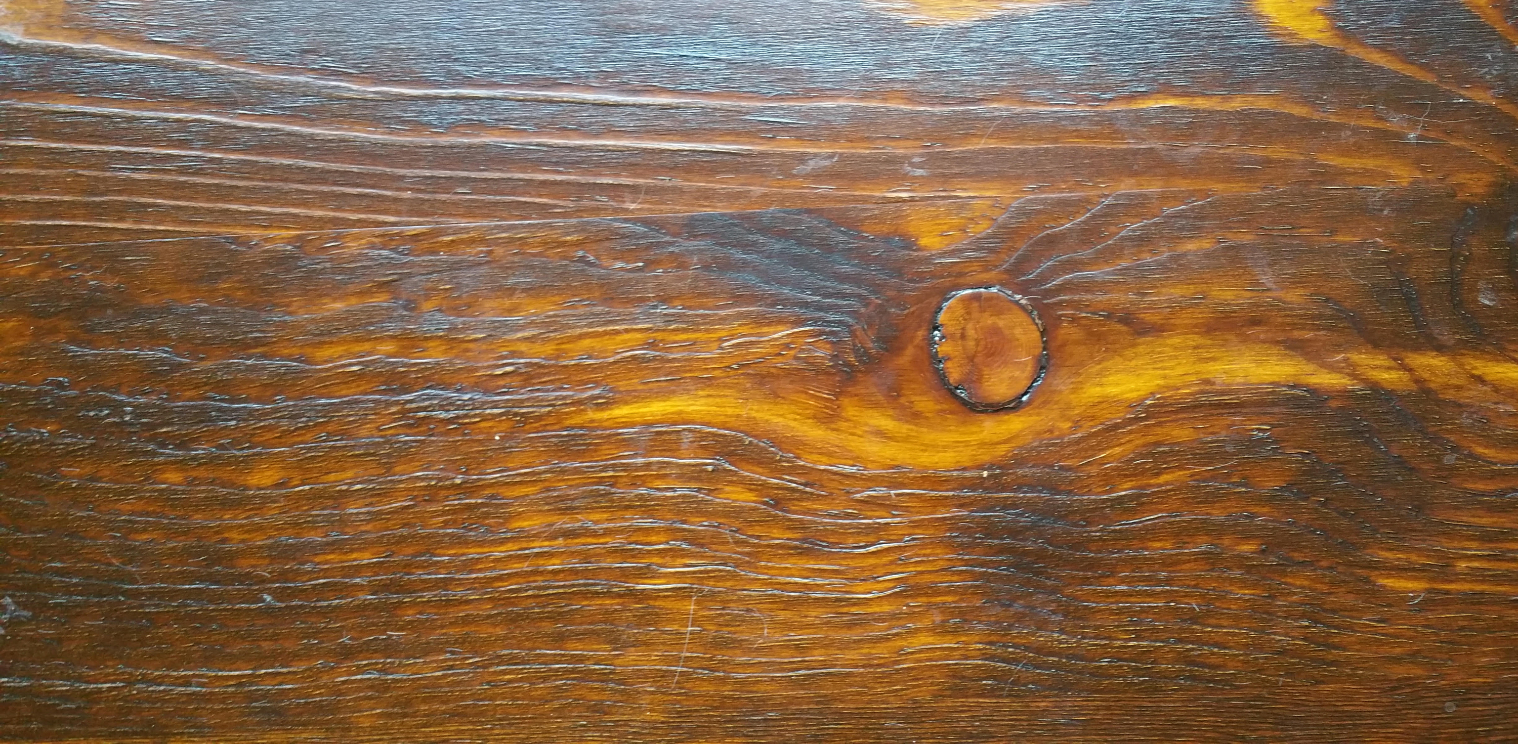 Table In Amber Dye Stain Topped With Gel Stain General