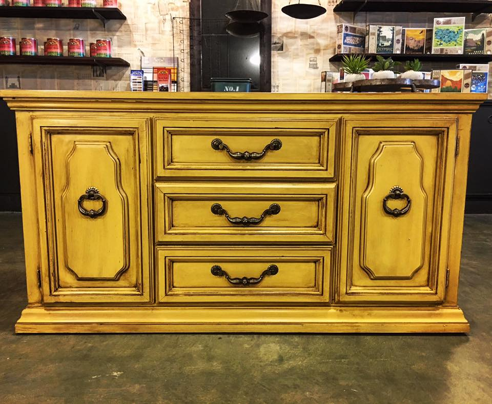 Black And Gold Chalk Paint Furniture