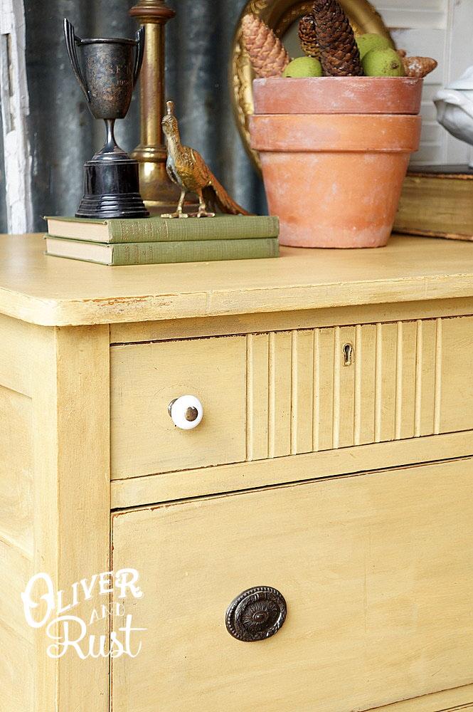 Charming Dresser In Somerset Gold Milk Paint General Finishes Design Center