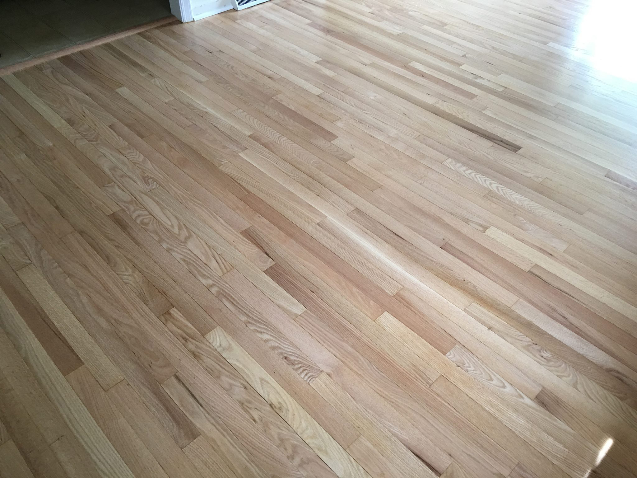 Red Oak Floors Refinished with Pro Image Satin