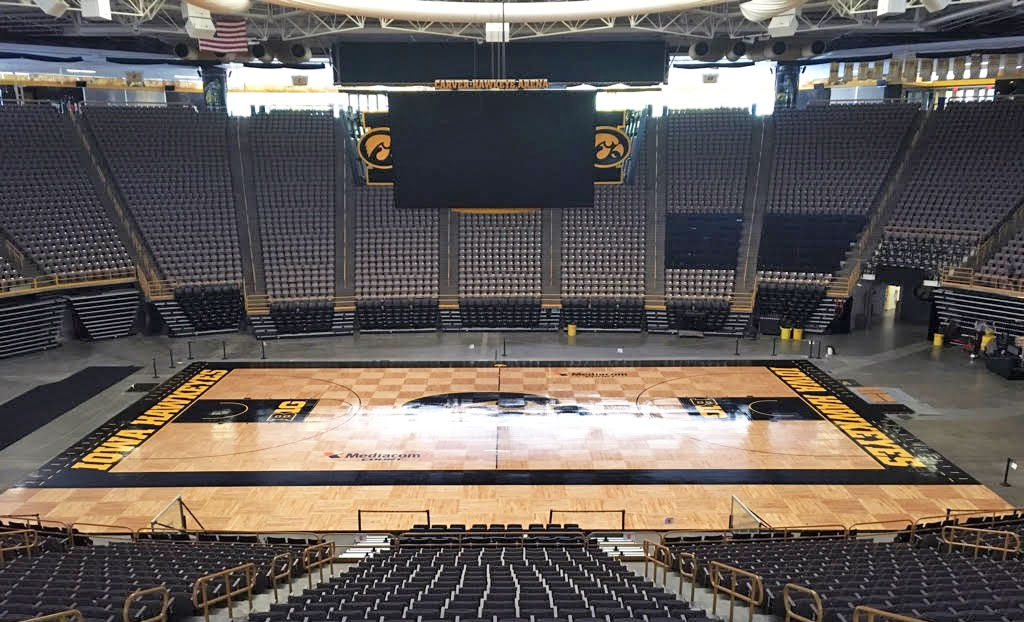 University Of Iowa Basketball Floor In Water Based Pro