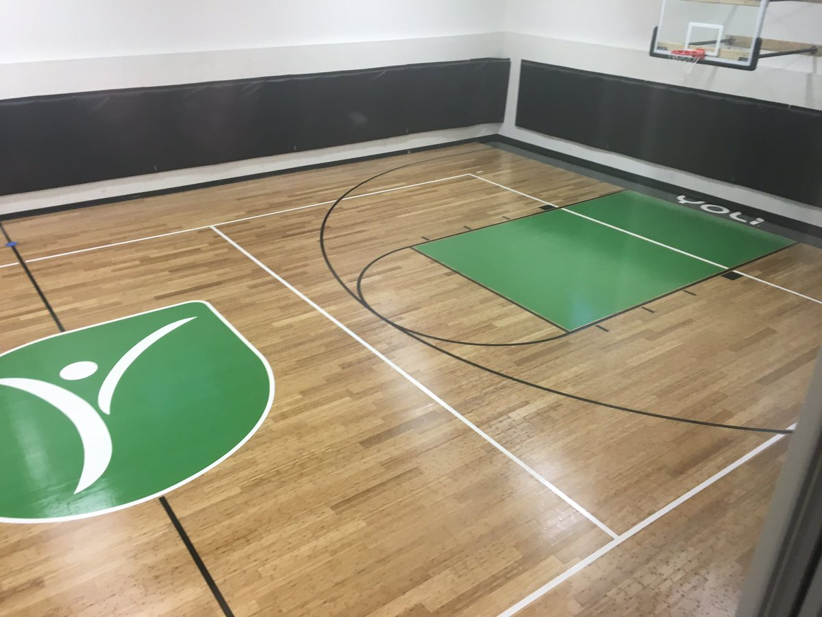 Bamboo Gym Floor In Pro Line Paint Sealer And Image