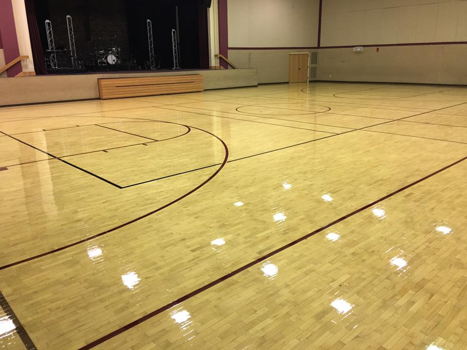 Gymnasium Floor Completed With Gf Pro Floor System