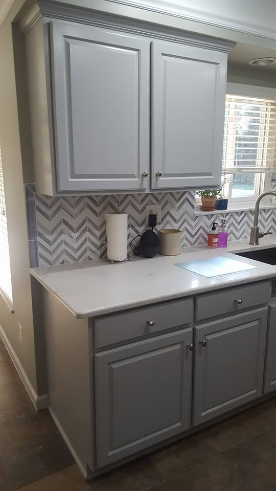 Golden Oak To Seagull Gray Kitchen Transformation