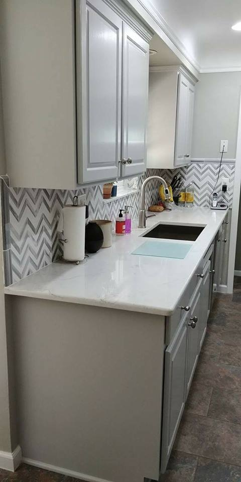 Golden Oak To Seagull Gray Kitchen Transformation