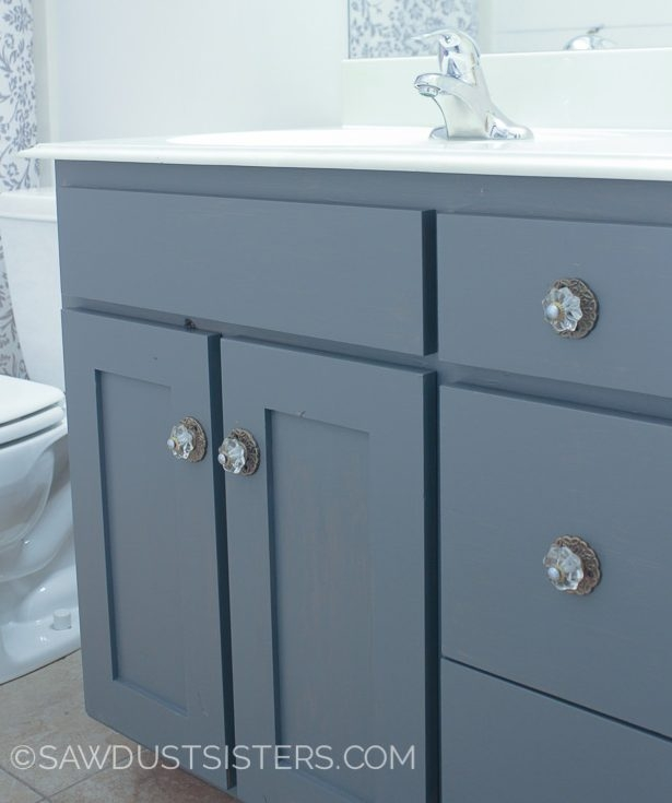 Gray Gel Stained Bathroom Vanity General Finishes Design Center