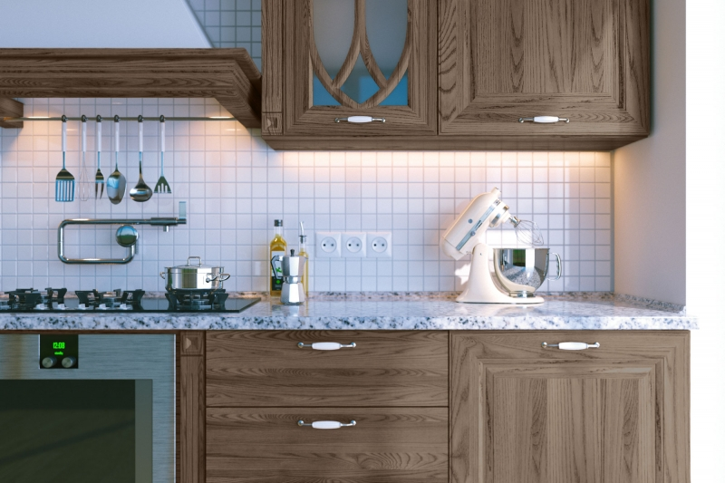General Finishes Liquid Oil Wood Stain, Slate - Cabinetry Example