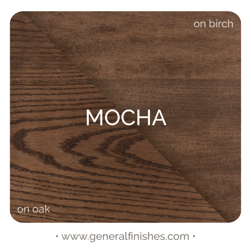 General Finishes Liquid Oil Wood Stain, Mocha - Stylized Color Chip