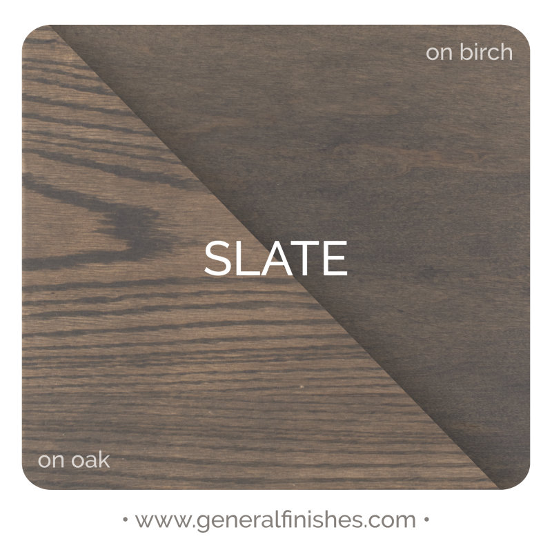 General Finishes Liquid Oil Wood Stain, Slate - Stylized Color Chip