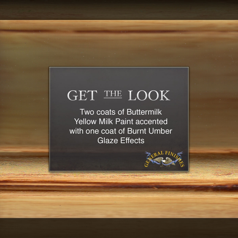 Get The Look Buttermilk Yellow Milk Paint Hand Distressed