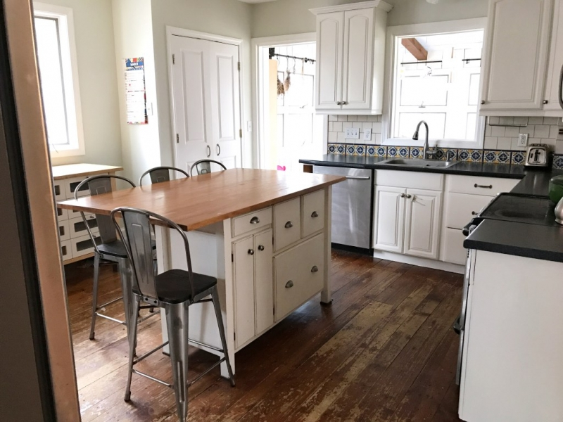 Kitchen Cabinet Makeover Custom Mix Of Antique And Snow