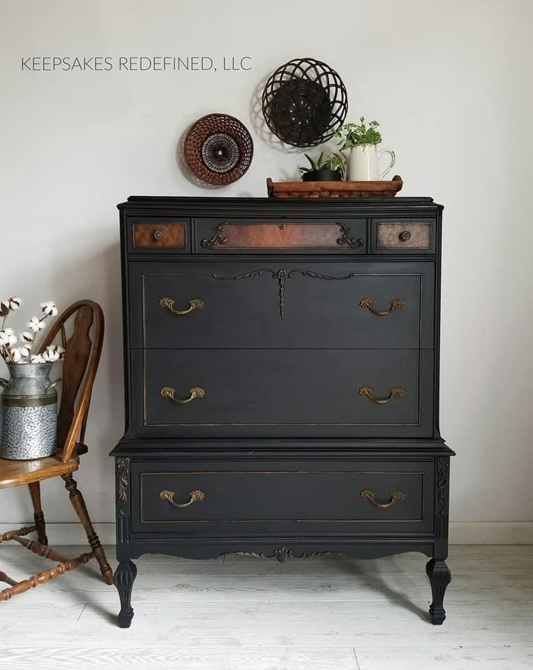 Black Pepper Antique Dresser General Finishes Design Center