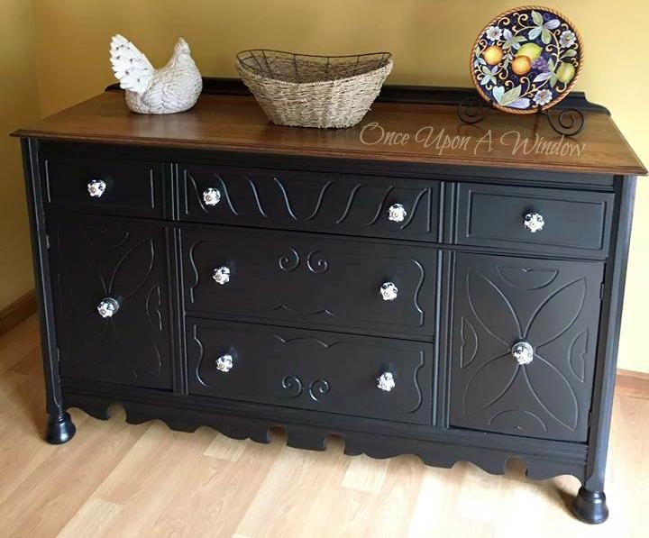 Lamp Black Painted Dresser General Finishes Design Center
