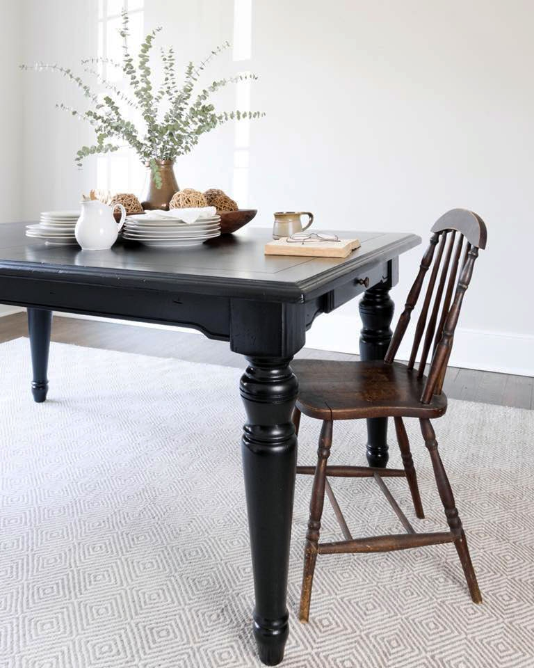 Lamp Black Farmhouse Table