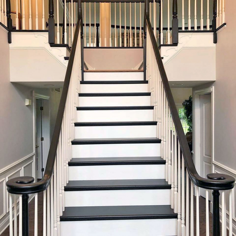 Black Gel Stain Stair Makeover General Finishes Design