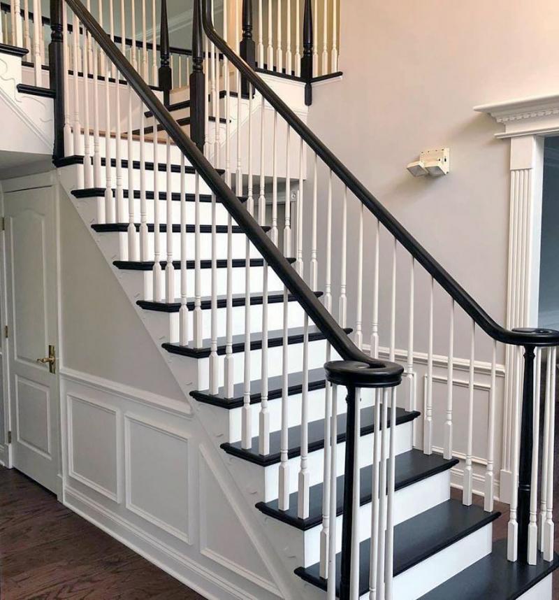 Black Gel Stain Stair Makeover General Finishes Design