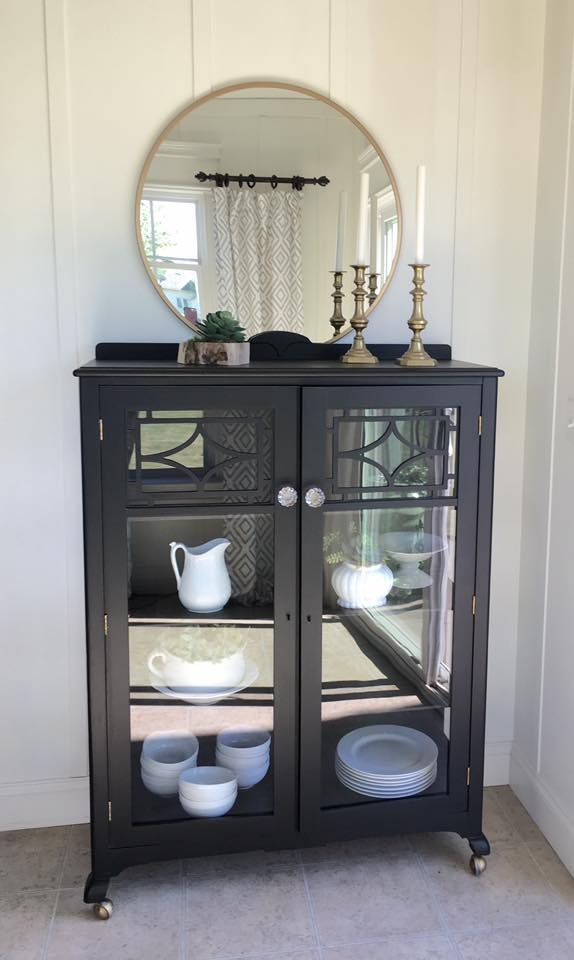 Vanity Painted In Lamp Black General Finishes Design Center