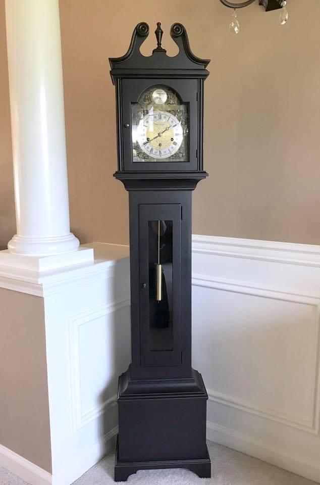 Vintage Clock In Lamp Black General Finishes Design Center