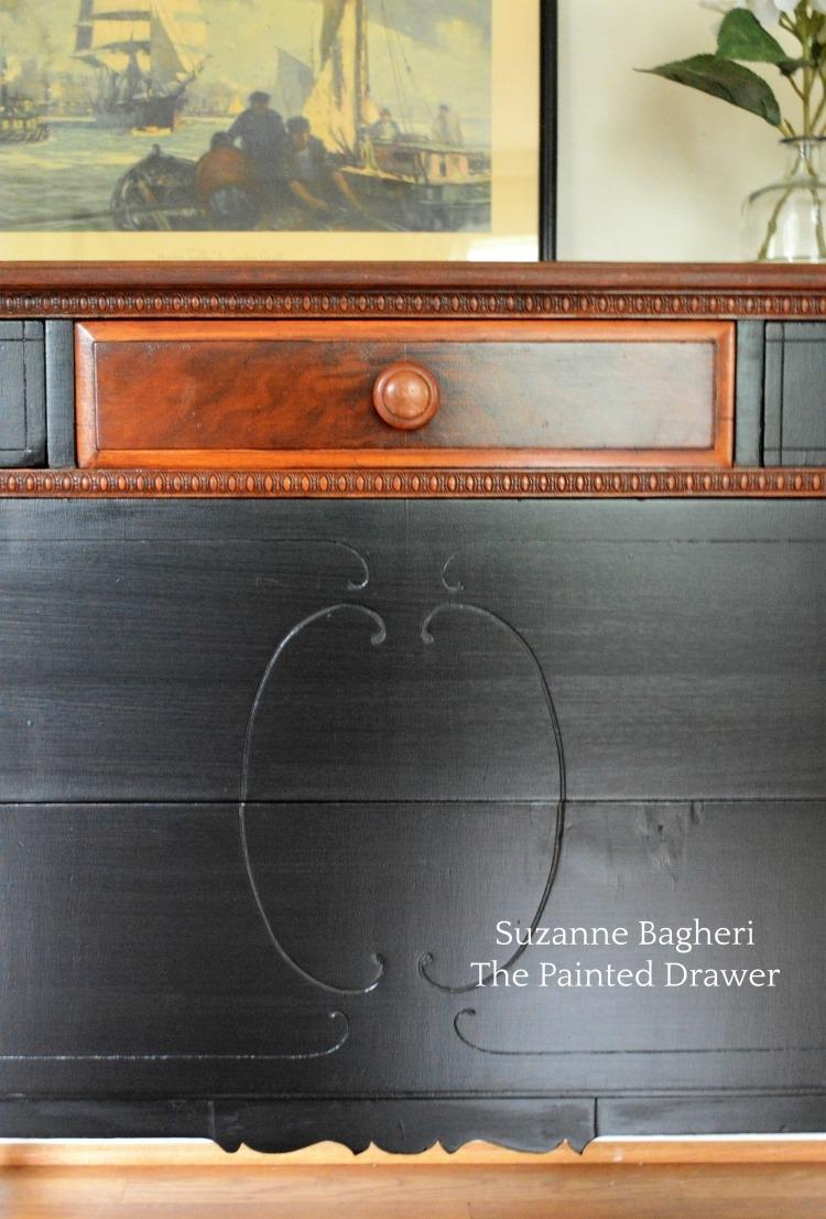 Dresser Transformation Using Antique Walnut Amp Lamp Black