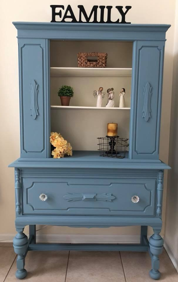 Cabinet In Stillwater Blue Amp Antique White General