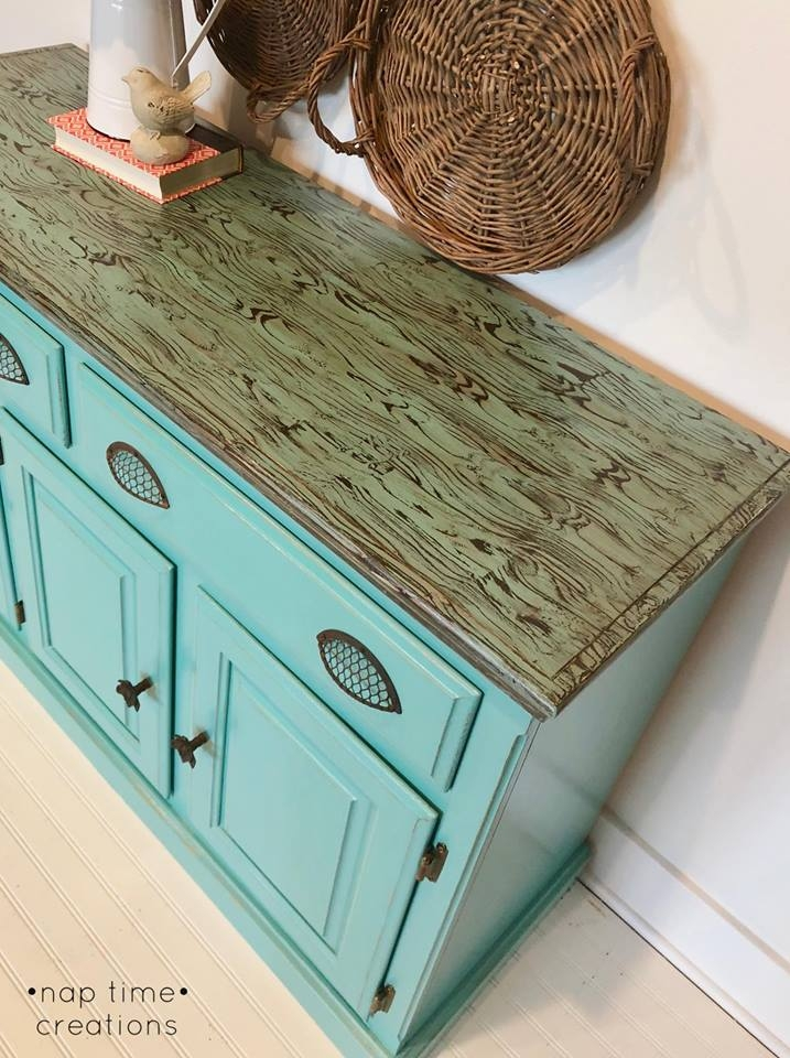 Beautiful Buffet In Key West Blue General Finishes