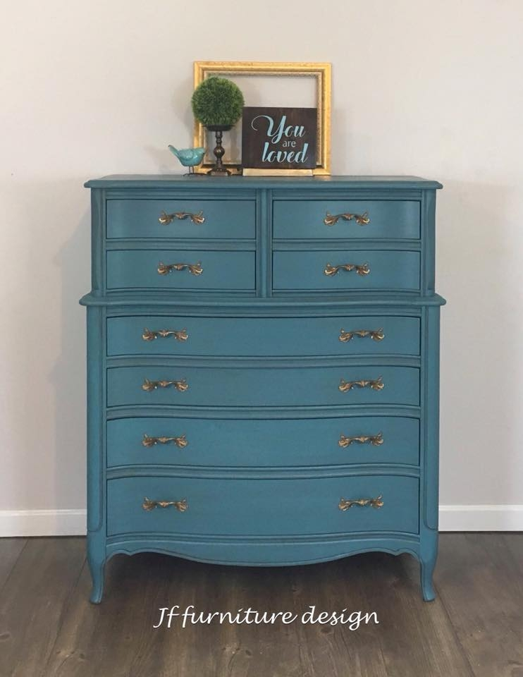 French Provincial Dresser In Custom Deep Teal General
