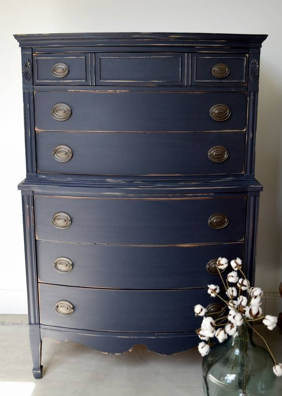 Coastal Blue Distressed Dresser General Finishes Design